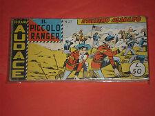 PICCOLO RANGER 3°SERIE III°-N°27 DEL 1960-STRISCIA -COLLANA AUDACE-araldo chiave