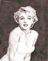 Marilyn Monroe A1 High Quality Canvas Print