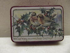 Vintage Christmas Holly Berry Candy Tin