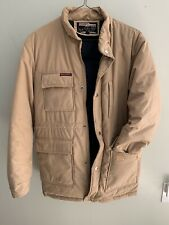 Vintage Goose Country Down Winter Coat Tan Jacket Size M