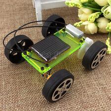 Green Electric Solar Toy Car Model DIY Kits Educational Gadget Hobby Robot