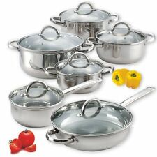 Cook N Home 12-Piece Stainless Steel Set Cook N Home  stainless cookware set