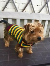 "Hand Knitted Dog Coat 14"" (36cm) For Small Dog Puppy Terrier Etc"