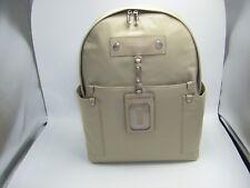 Marc Jacobs NYC Travel Backpack Large Sandstone Nylon Leather Trim ID Holder