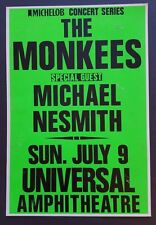 THE MONKEES/Michael Nesmith Original Boxing Style Concert Poster 1989 LA Turtles