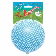 Jolly Pet Bounce-N-Play Ball Blue 4.5 inch | Berry Scented Rubber Dog Toy