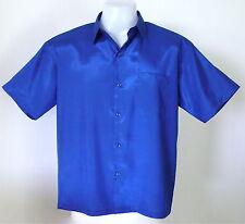 Mens Thai Silk Shirts M-L-XL-XXL-XXXL ~ SHORT & LONG Sleeves / 16 Colours
