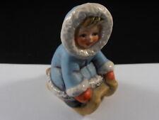 New ListingGoebel Hummel Wintertime Fun Little Girl on Sled Blue Coat Figurine 11 700