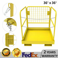 "Heavy Duty Forklift Safety Cage Work Platform Steel Lift Basket Aerial 36"" x 36"""