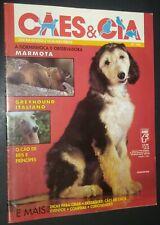 Caes & Cia Brazilian Dog Magazine Afghan & Italian Greyhound Cover June 1991