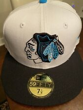 Chicago Blackhawks New Era 59Fifty 7 1/8 Custom Blue NHL Hat