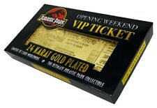 Jurassic Park Opening Weekend VIP Ticket 24 Karat Gold Plated Official New