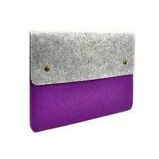 "Purple Felt Sleeve Bag with Button Closure for 12"" Macbook Retina A1534/Ultraboo"