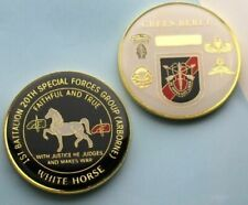 challenge coin  SPECIAL FORCES  WHITE HORSE GREEN BERET AIRBORNE