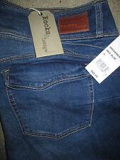 ROCKS & INDIGO Triple Button Boot Stretch Dark Denim Jeans Womens Sz 18 New $69
