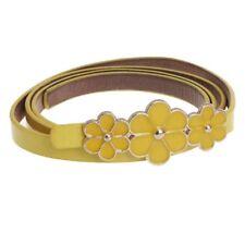 Leather Flower Waist Belt Waistband For Women-Yellow K2I5