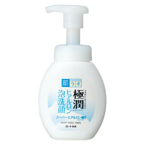 Rohto Hada Labo Gokujyun Super Hyaluronic Acid Face Wash Cleansing Foam 160m JP