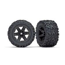 Full Set Traxxas 6773 Rustler 4x4 Talon EXT Tires Mounted on Black 2.8 Wheels
