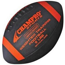 Champro Weighted Training Football Official Size 2 lbs. Rubber Black/Orange Fbw2