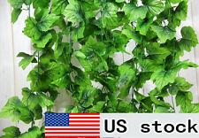 82 feet artificial grape leaf garland faux vine home decor wedding flower green
