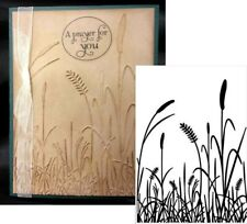 """New Darice Grass Embossing Folder 4 1/4"""" x 5 3/4"""" Nature Meadow Botanical Cards"""