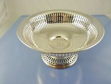 "PLAIN ART DECO PIERCED PEDESTAL BOWL 6.5"" B 1578 BY UNGER BROTHERS USA ""???"""