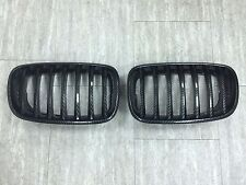 Front Kidney Hood Grilles Carbon Look For '2007-'2013 BMW E70 X5,E71 X6