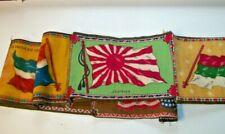 Nine Flag Felts (Attached) Japan, Us, Bulgaria, Guatemala, Ireland, Dominica Rep