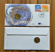 """Great Britain UK British  2 Pounds 1995 """"50 Years - United Nations"""" UNC COIN"""