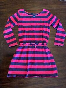 Ralph Lauren Girls Pink and Blue Dress 6