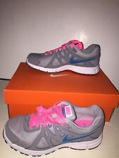 "NIKE Women's ""REVOLUTION 2"" Running Shoes GREY/PINK/WHITE/AQUA Size 5W NEW BOXED"