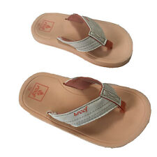 REEF Slippers Zori Flip Flops Toddler Infant Baby Size 7/8 Coral White Pre-Owned