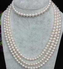 "beautiful 7-8mm White AKOYA Pearl Necklace 68"""