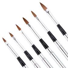 6X/set Kolinsky Sable Brushes Acrylic Nail Brush Professional Nail Art Tools New