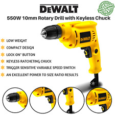 DeWalt 550W 10mm Rotary Drill with Keyless Ratcheting Chuck Low weight Tool