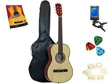 Star Acoustic Guitar 38 Inch, Bag, Tuner, Strings, Picks, Beginner Guide Natural