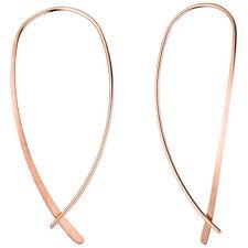 JOBO Durchzieh-Ohrhänger 925 Silber rotgold vergoldet Ohrringe zum Durchziehen