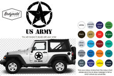 JEEP US ARMY with distressed Military Star