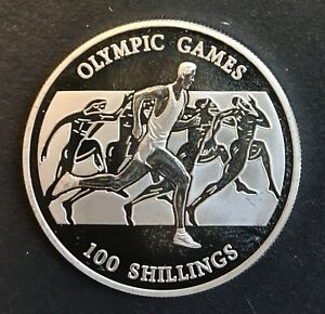 Somalia - Silver 100 Shillings Coin - 'Olympic Games' - 2001 - Proof