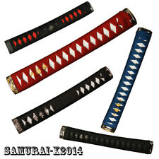 Cord Wrapped tsuka handle hilt with kashira fuchi menuki for katana wakizashi