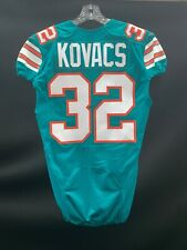 #32 JORDAN KOVACS MIAMI DOLPHINS GAME USED THROWBACK STYLE NIKE JERSEY 2015