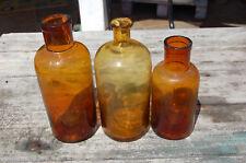 Ancien pot à pharmacie en verre de couleur ambre, bouteille, flacon