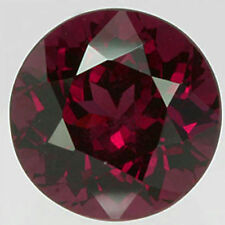 9mm ROUND-FACET PURPLE/RED NATURAL INDIAN ALMANDINE GARNET GEMSTONE