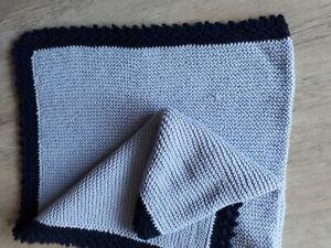Babydecke Bandeinfassung dunkelblau Marke MORA 80x110 cm KIDZ B54 c.05