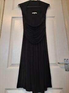 Asos Maternity Dress Black Size 12 Elasticated Waist