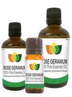Rose Geranium Essential Oil Pure Aromatherapy Perlargonium Graveolens & Rosa