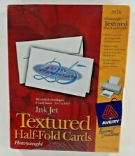 New listing Avery 3378 Textured Half-Fold Greeting Cards 30 with Envelopes Inkjet 5.5 x 8.5