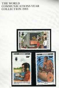 Cameroon 1983  World Communication year set of 3 stamps. MUH. SG 975-977. Cheap
