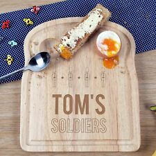 Kids Birthday Christmas Gift Children Personalised Egg and Toast Soldiers Board