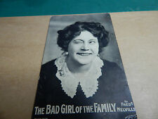 Aldwych Theatre promo postcard for Bad Girl of the family 1900's Ao1
